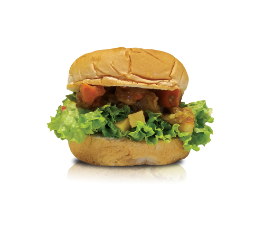 CARTOPUS GREEN CURRY CHICKEN BURGER 日式咖喱鸡汉堡包