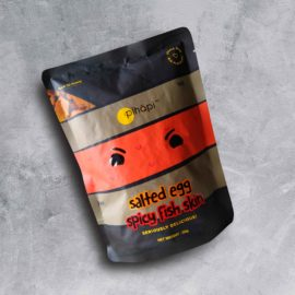 CARTOPUS SALTED EGG FISH SKIN (SPICY) 鱼皮零食 (辣)